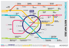 Amtrack Route Map by Sydney Festival 2015 Route Map Cameron Booth