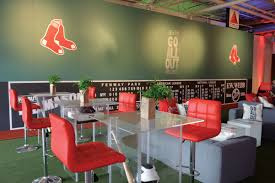 boston sox baseball themed bar mitzvah at the stave room in