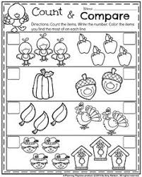 cut and paste math activity for numbers 1 to 10 on turkeys