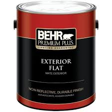 glidden premium 1 gal flat base 1 white exterior latex paint