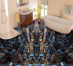 unique bathroom designs dwell of decor 3d glossy epoxy flooring for unique bathroom