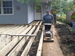 Composite Patio Pavers by How To Install A Composite Deck And Paver Patio