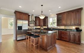Hardwood Floor Kitchen Cabinets With Granite And Hardwood Floors Home Decor