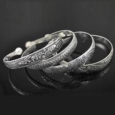 silver bracelet styles images Yumfeel new vintage style tibetan silver metal carving cuff jpg