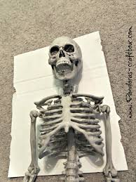 Halloween Skeleton Craft by Halloween Skeleton Frame Diy Inspired