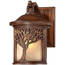 bronze mission style tree 9 1 2 high outdoor wall light wall