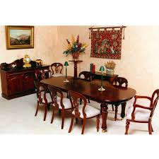 et 009 victorian d end dining table 1 leaf mahogany by hand