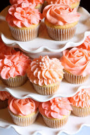 best 25 coral cupcakes ideas on pinterest coral wedding cakes