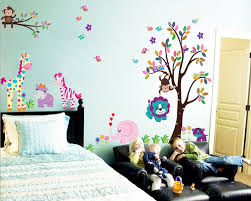 Zoo Animal Friends Kids Wall Decals Nursery Vinyl Sticker - Animal wall stickers for kids rooms