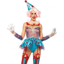 delightful circus clown womens halloween costume creepy clown