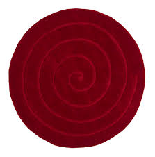 Round Modern Rug by Red Circle Rug Roselawnlutheran