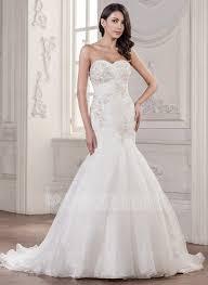 mermaid trumpet wedding dress trumpet mermaid sweetheart court organza wedding dress with