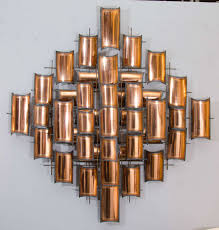 Home Sculptures by Torch Cut Copper Wall Art Sculpture For Sale At 1stdibs