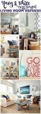 Coastal Livingroom Cozy Coastal Navy And White Living Room Refresh The Happy Housie