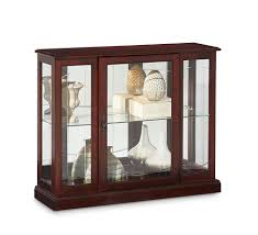 Cherry Wood Curio Cabinet Console Curio Cabinet In Ridgewood Cherry By Pulaski Home