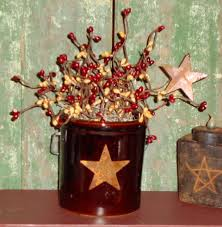 Pictures Of Primitive Decor Country Crock Berry Arrangement Country Primitive Decor