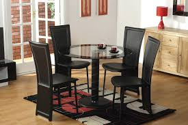 adorable 4 seater glass dining table ideas round sets for