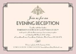 reception invitations wedding invitations evening reception pastel deco evening