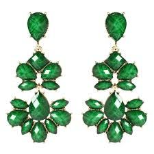 green earrings nello chandelier earring shop amrita singh jewelry