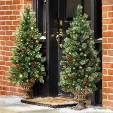 best pre lit trees for front porch paradise in a yard