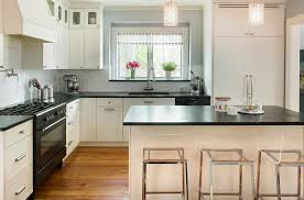 black kitchen countertops with white cabinets cool kitchen white cabinets black countertop modern design