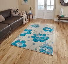 floral design hand carved effect rug modern home decor verona mat