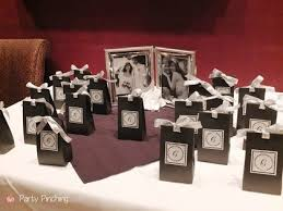 anniversary party favors 25th silver wedding anniversary party dinner ideas
