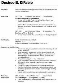 Sample Resume For Teacher Assistant Objectives For Resumes For Teachers Teaching Assistant Cover