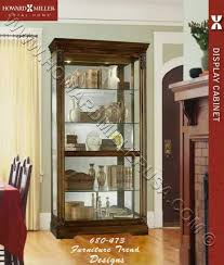 Interior Design Display Cabinet Miller Large Cherry Curio Display Cabinet Glass 680473 Ramsdell