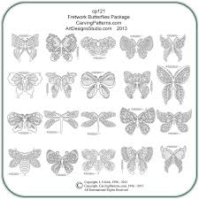 fretwork butterflies patterns carving patterns