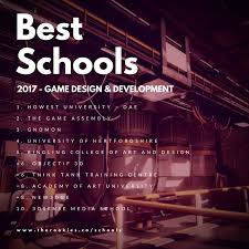 game design los angeles the rookies announce 2017 rankings for best creative media schools