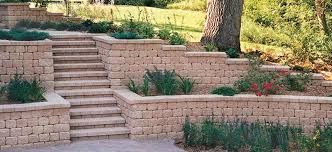 Lawn And Landscape by Retaining Wall Blocks By Fredrickson