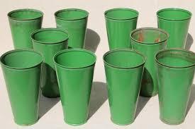 Tin Flower Vases Vintage Vases U0026 Planters