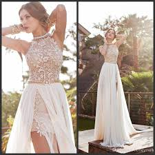 high low halter wedding dress dress for country wedding guest