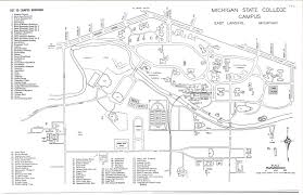 Michigan On The Map by On The Banks Of The Red Cedar Michigan State College Campus Map 1941