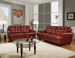 Modern Furniture Depot by Burgundy Tufted Top Grain Leather Modern Sofa W Options