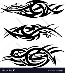 abstract tribal flames royalty free vector image