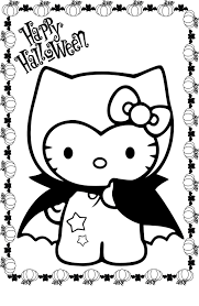 Hello Kitty Halloween Costumes by Hello Kitty Coloring Pages Costume Halloween Cartoon Coloring