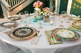 mismatched plates wedding eclectic wedding decor mix and match style mix match thrift