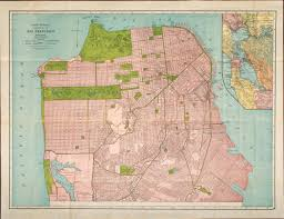 Bay Area Map 1930s Rand Mcnally U0026 Co Map Of San Francisco With Bay Area