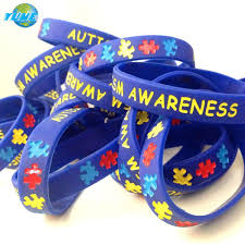 silicone rubber wristband bracelet images Child youth size autism awareness silicone wristband bracelets jpg