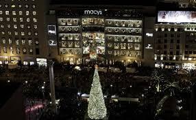 san francisco tree lighting 2017 macy s great tree 2017 visit union square hotels shopping