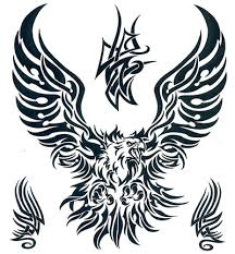 tribal eagle temporary tattoo this is a 7 5