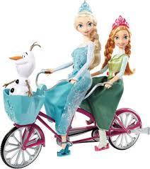 disney frozen elsa anna olaf bicycle doll 887961176841