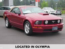 2007 ford mustang gt convertible pre owned 2007 ford mustang gt premium 2d convertible in olympia