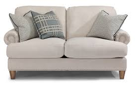 Holmwood Furniture Somersworth Nh by Flexsteel Luxury Transitional Loveseat With Rolled Arms And