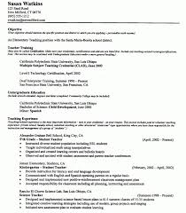 Teacher Resumes That Stand Out Sample Teachers Resume 51 Teacher Resume Templates Free Sample
