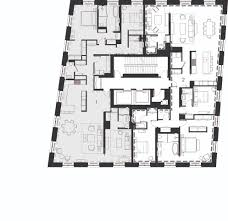 21 east 12th street selldorf architects new york two unit floor plan
