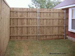 How To Build Backyard Fence How Do You Attach A Wood Fence Post To A Concrete Surface How Do