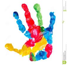 color child hand print stock images image 15834644